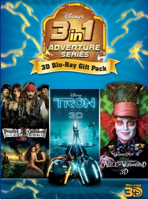 Buy 3D Bluray Pack 1 (Tron Legacy, Alice In Wonderland, Pirates Of The Caribbean On Stranger Tides) (3D Blu-ray): Av Media