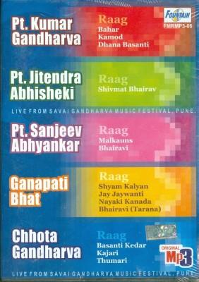 Buy Pt.Kumar Gandharva,Pt.Jitendra Abhisheki,Pt.Sanjeev Abhyankar,Ganapati Bhat,Chhota Gandharva: Av Media