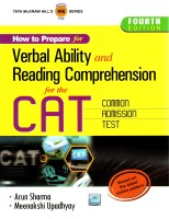 How to Prepare for Verbal Ability and Reading Comprehension for the CAT Common Admission Test 4th Edition: Book