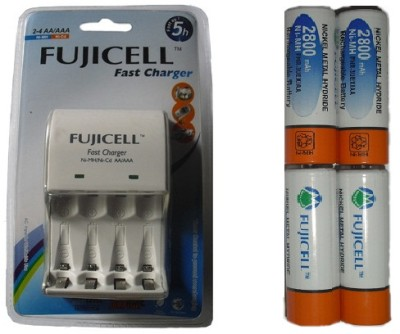 Buy Fujicell BC1002 Battery Charger (with 4 x 2800 mAh Rechargeable Battery) Battery Charger: Camera Battery Charger