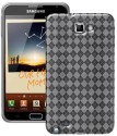 Amzer 92933 Luxe Argyle High Gloss TPU Soft Gel Skin Case For Samsung Galaxy Note Clear