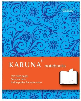 Buy Karunavan Paisley Series Blue and Orange Band Journal Hard Bound: Diary Notebook