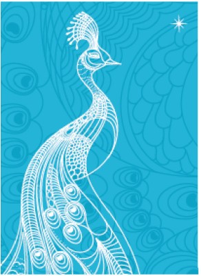 Buy Karunavan Animal Kingdom Peacock Memo Pad Hard Bound: Diary Notebook