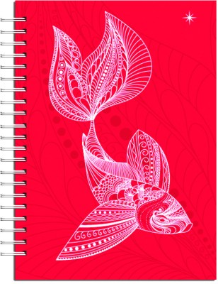 Buy Karunavan Animal Kingdom Fish Red Journal Spiral Binding: Diary Notebook