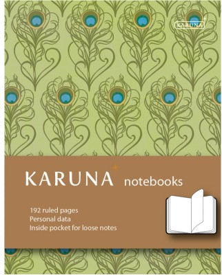 Buy Karunavan Paisley Series Peacock and Brown Band Journal Hard Bound: Diary Notebook