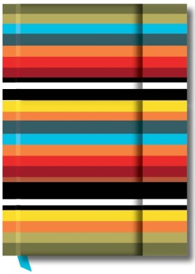 Buy Designwallas Black-Yellow Magnet Stripe A5 Notebook Hard Bound: Diary Notebook