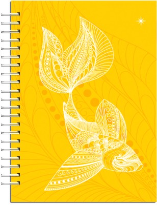Buy Karunavan Animal Kingdom Fish Yellow Journal Spiral Bound: Diary Notebook