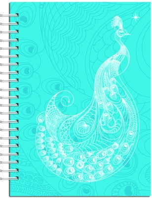 Buy Karunavan Animal Kingdom Peacock Blue Journal Spiral Bound: Diary Notebook
