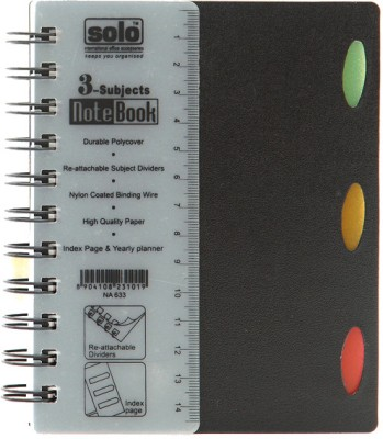 Buy Solo Management 3 Subjects (Set of 4) A6 Notebook Spiral Bound: Diary Notebook