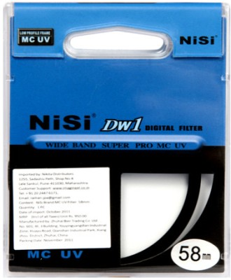 Buy Nisi 58 mm Ulta Violet UV Filter: Filter
