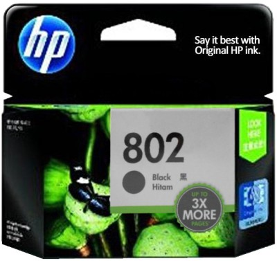 Buy HP 802 Large Black Ink Cartridge: Inks & Toners