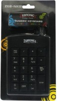 Zebronics ZEB - NK01 Wired USB Numeric Pad