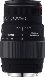 Sigma 70 300 mm F4 5.6 APO DG Macro Motorized for Canon Digtital SLR