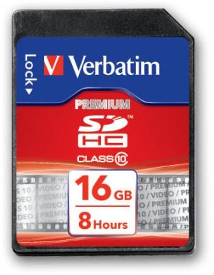 Verbatim Premium 16GB Class 10 SDHC Memory Card