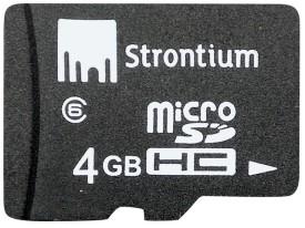 Strontium 4 GB (Class 6) MicroSD Memory Card