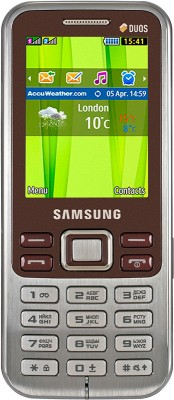 Samsung Metro DUOS C3322 Wine Red available at Flipkart for Rs.3499