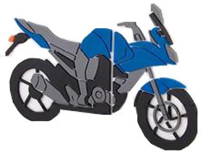Microware Motorbike Shape Designer 8 GB Pendrive