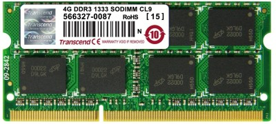 Buy Transcend DDR3 4 GB Laptop RAM (JM1333KSN-4G): RAM