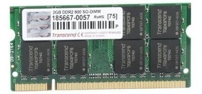 Buy Transcend DDR2-800/PC2-6400 DDR2 2 GB Laptop RAM (JM800QSU-2G): RAM