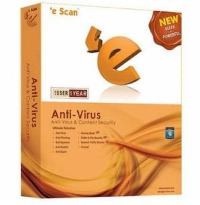 Buy eScan Anti-Virus 1 PC 1 Year: Security Software