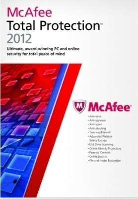 Buy McAfee Total Protection 2012 3 PC 1 Year: Security Software