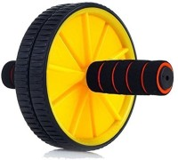 STRAUSS Double Exercise Wheel (Yellow/Black) Ab Exerciser (Yellow, Black)