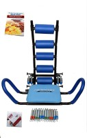 ABROCKETTWISTER Platinum Abrocket Twister Machine Portable Home Workout Gym 5 Minutes Shaper Cardio Weight Loss Six Pack Zone Flex Fitness Pump Twist Run Bodi Pro Dvd 12 Resistance Springs Ab Exerciser (blue)