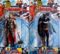 Avengers Combo Of Thor And Batman Toy Model (Multicolor)