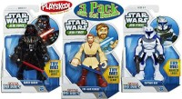 Playskool Heroes Star Wars Jedi Force Darth Vader, Obi-Wan Kenobi & Captain Rex Figures Gift Set Bundle - 3 Pack (Multicolor)