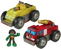 Teenage Mutant Ninja Turtles Turtles Pre-Cool Half Shell Heroes Mutations Fire Truck To Tank With Raphael Mutating Vehicle And Figure (Multicolor)