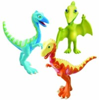 Learning Curve Dinosaur Train Collectible Dinosaur 3 Pack - My Friends Are Bipeds: Derek, Ollie, Mr. Pteranodon (Multicolor)