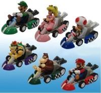 Nintendo Super Mario Bros Mini Kart Pullback Figure Set Of 6 (Multicolor)