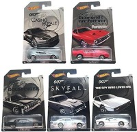 Hot Wheels 2015 Exclusive James Bond 007 Collection, Bundle Set Of 5 Die-Cast Cars, 1:64 Scale (Multicolor)