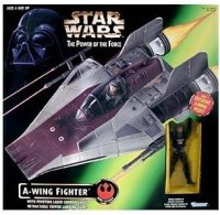 Star Wars Power Of The Force A-Wing Fighter With Pilot Vehicle (Multicolor)