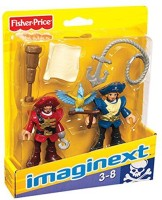 Fisher-Price Fisher-Price Imaginext Pirate Captain & Officer (Multicolor)