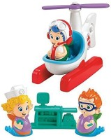 Nickelodeon Fisher Price Bubble Guppies Helicopter Check-Up Set (Multicolor)