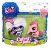 Littlest Pet Shop Cutest Pets Raccoon 2580 & Anteater 2581 (Multicolor)