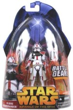 Star Wars Action Figures Star Wars ROTS #33 Red Clone Commander