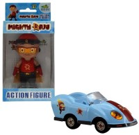 Chhota Bheem Mighty Raju Action Figure + Pull Back Car (Blue, Red)