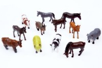 ToyTree 12 Set Farm Animal High Quality Rubber Toys For Kids (Multicolor)