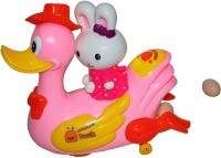 AdraxX Lovable Duckling With Light And Music (Pink, Yellow)
