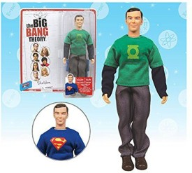 Bif Bang Pow! Big Bang Theory Sheldon Green Lantern/Superman 8Inch