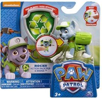 Spin Master Paw Patrol Pack Pup & Badge Set Of 4 Rockyzumachase & Rubble (Multicolor)