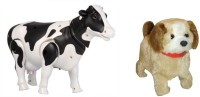 Jouet Walking Milk Cow And Jumping Dog (Multicolor)