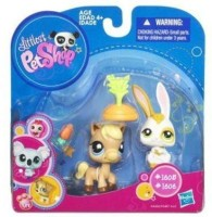 Littlest Pet Shop 2010 Assortment A Series 5 Collectible Horse Bunny (Multicolor)