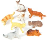 Rhode Island Novelty 12 Assorted Cats (2.5-inch PVC) (Multicolor)
