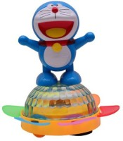 RREnterprizes All New Dancing Doraemon With 4D Light Battery Operated Toy For Kids (Blue, White)