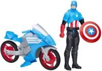 Funskool Marvel Titan Hero Series Captain America With Battle Cycle (Multicolor)