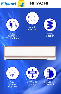 Hitachi 1.5 Tons 3 Star Split AC Copper (RAU318HWDS)