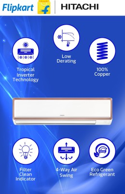 Hitachi 1 Ton Inverter Split AC Copper (RAU312EWEAS)